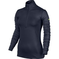 Bluzy damskie: Nike Bluza damska Pro Warm Top LS HZ granatowa r. S (803145 451)