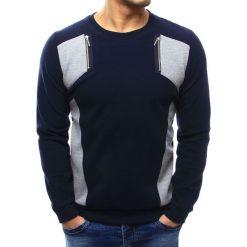 Swetry męskie: Sweter męski granatowy (wx1026)