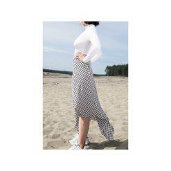 White chequered skirt. Szare spódnice wieczorowe marki Miss Sixty, m, z dzianiny, midi, asymetryczne. Za 219,00 zł.