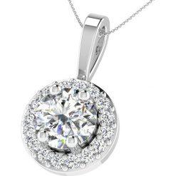 Naszyjniki damskie: Srebrny naszyjnik z diamentami – dł. 43 cm
