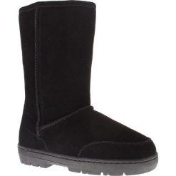 """Buty zimowe damskie: Skórzane kozaki """"Guy"""" w kolorze czarnym"""