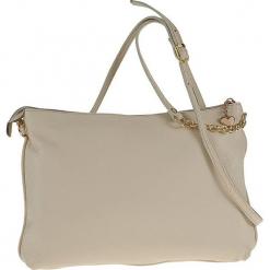 Skórzana torebka w kolorze beżowym - 28 x 20 x 4 cm. Brązowe torebki klasyczne damskie Classe Regina, w paski, z materiału. W wyprzedaży za 227,95 zł.