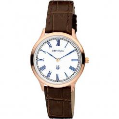 Zegarek kwarcowy w kolorze brązowo-biało-różowozłotym. Brązowe, analogowe zegarki damskie Esprit Watches, ze stali. W wyprzedaży za 272,95 zł.