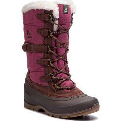 Śniegowce KAMIK - Snovalley2 NK2176 Burgundy. Czerwone buty zimowe damskie Kamik, z materiału. W wyprzedaży za 339,00 zł.