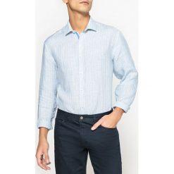 Koszule męskie: Koszula z lnu w paski