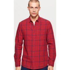 Koszula w kratę - Bordowy. Czerwone koszule męskie Cropp, l. Za 79,99 zł.