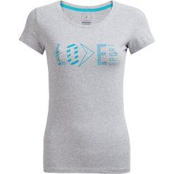 T-shirt damskie TSD604 - ciepły jasny szary - Outhorn. Szare t-shirty damskie Outhorn, z nadrukiem, z bawełny. W wyprzedaży za 24,99 zł.