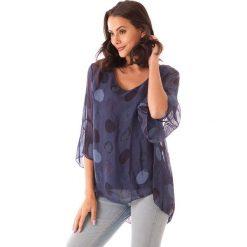 Bluzki asymetryczne: Koszulka w kolorze granatowym