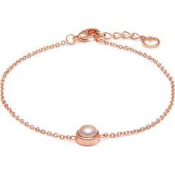 Bransoletki damskie na nogę: Pozłacana bransoletka z perłą na kostkę