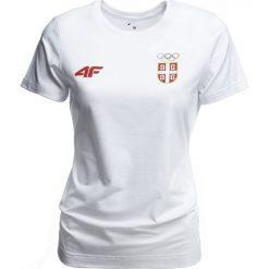 Bluzki damskie: Koszulka damska Serbia Pyeongchang 2018 TSD700 – biały