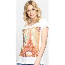 T-shirty damskie: Kremowy T-shirt Sweet Memories