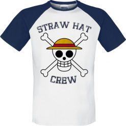 T-shirty męskie: One Piece Straw Hat Crew T-Shirt biały/niebieski