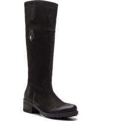 Oficerki R.POLAŃSKI - 0981 Czarny Nubuk. Czarne buty zimowe damskie marki R.Polański, ze skóry, na obcasie. W wyprzedaży za 349,00 zł.