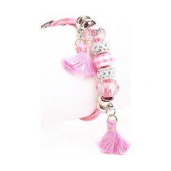 Bransoletki damskie na nogę: Różowa Bransoletka Forever My Love