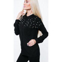 Koszula wiązana z tyłu czarna 16170. Czarne koszule wiązane damskie marki Fasardi, s. Za 49,00 zł.