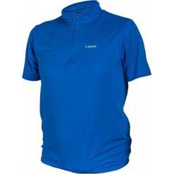 Koszulka rowerowa w kolorze niebieskim. Niebieskie koszulki sportowe męskie Ciepło i przytulnie, m, z nadrukiem, z tkaniny. W wyprzedaży za 49,00 zł.
