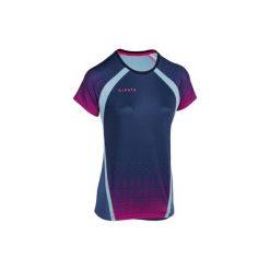 Koszulka krótki rękaw do siatkówki V500 damska, niebieska. Czarne t-shirty damskie marki KIPSTA, m, z elastanu, z długim rękawem, na fitness i siłownię. Za 49,99 zł.