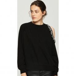 Bluza z odkrytym ramieniem - Czarny. Czarne bluzy damskie marki Sinsay, l. Za 79,99 zł.