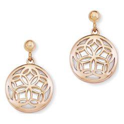 Kolczyki damskie: Pozłacane kolczyki-wkrętki z masą perłową