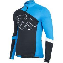 Koszulka rowerowa męska RKM155 - głęboka czerń. Szare koszulki sportowe męskie 4f, m, z elastanu, z długim rękawem, rowerowe. Za 219,99 zł.