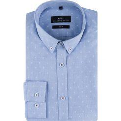 Koszula SIMONE slim KDNS000156. Białe koszule męskie na spinki Giacomo Conti, m, button down, z długim rękawem. Za 169,00 zł.