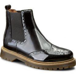 Sztyblety BRONX - 44160-BH BX 829 Black 1. Czarne botki damskie skórzane marki Bronx. W wyprzedaży za 289,00 zł.
