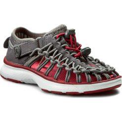 Sandały KEEN - Uneek 02 1015504 Magnet/Tango Red. Szare sandały chłopięce marki Keen, z materiału. W wyprzedaży za 169,00 zł.