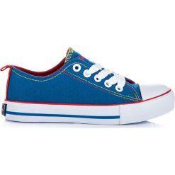 Buty dziecięce: Niebieskie wiązane trampki BAYLEE