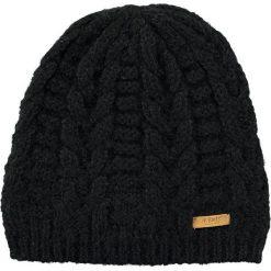 Barts - Czapka Anemone. Czarne czapki zimowe damskie marki Barts, na zimę, z dzianiny. W wyprzedaży za 89,90 zł.