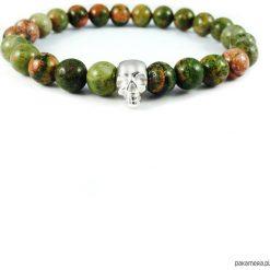 Biżuteria i zegarki: Bransoletka Green Skull
