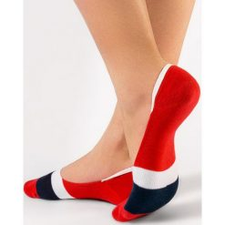 Czerwone Stopki Conte Donkeys Tail. Czerwone skarpetki damskie marki DOMYOS, z elastanu. Za 14,99 zł.