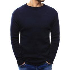 Swetry klasyczne męskie: Sweter męski granatowy (wx1016)