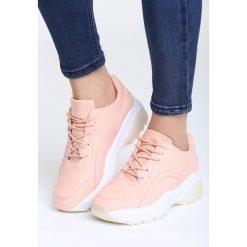 Różowe Buty Sportowe Stereo Love. Czerwone buty sportowe damskie marki Born2be, z materiału. Za 89,99 zł.