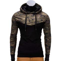 Bluzy męskie: BLUZA MĘSKA Z KAPTUREM B670 – BRĄZOWA