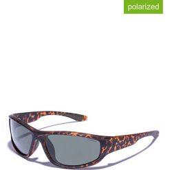 Okulary przeciwsłoneczne męskie lustrzane: Okulary męskie w kolorze brązowo-zielonym
