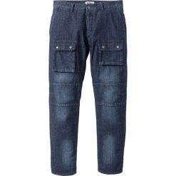 Lekkie dżinsy bojówki Regular Fit Straight bonprix ciemnoniebieski. Niebieskie jeansy męskie regular bonprix. Za 59,99 zł.