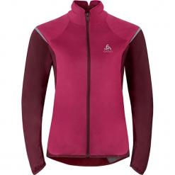 """Kurtka softshellowa """"Zeroweight"""" w kolorze fuksji do biegania. Czerwone kurtki damskie marki Odlo Women, xs. W wyprzedaży za 259,95 zł."""
