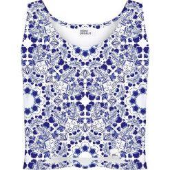 Colour Pleasure Koszulka damska CP-035 6 biało-fioletowa r. XS-S. Białe bluzki damskie marki Colour pleasure, s. Za 64,14 zł.
