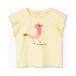 Mango Kids - Top dziecięcy Bird 80-104 cm. Niebieskie bluzki dziewczęce marki DOMYOS, z elastanu, street, z okrągłym kołnierzem. W wyprzedaży za 29,90 zł.