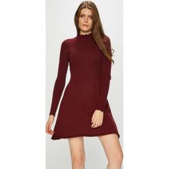 Only - Sukienka. Szare długie sukienki marki ONLY, s, z bawełny, casualowe, z okrągłym kołnierzem. Za 149,90 zł.