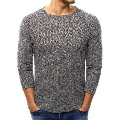 Swetry klasyczne męskie: Sweter męski czarno-biały (wx0991)