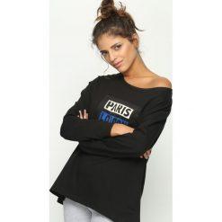 Bluzy rozpinane damskie: Czarna Bluza Best City