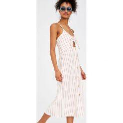 Sukienki: Sukienka mini na ramiączkach z węzłem