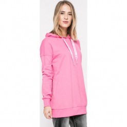 Vero Moda - Bluza. Różowe bluzy rozpinane damskie Vero Moda, m, z bawełny, z kapturem. W wyprzedaży za 79,90 zł.