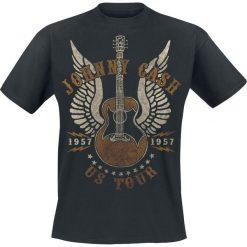 T-shirty męskie: Johnny Cash US Tour 1957 T-Shirt czarny