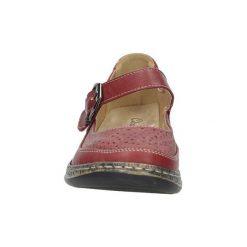 Półbuty Casu  Czerwone półbuty na koturnie 9572-4. Czerwone buty ślubne damskie Casu, na koturnie. Za 59,99 zł.