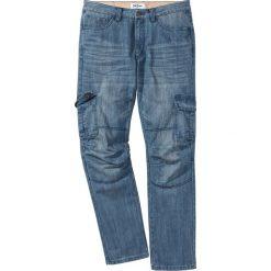 Dżinsy bojówki Regular Fit Straight bonprix niebieski. Niebieskie jeansy męskie regular marki House, z jeansu. Za 79,99 zł.