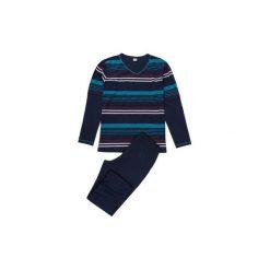 Piżama męska w paski. Niebieskie piżamy męskie TXM, m, w paski. Za 54,99 zł.