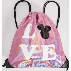 Plecaki damskie: Plecak worek disney – Różowy