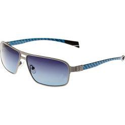"""Okulary przeciwsłoneczne męskie: Okulary męskie """"Meridian"""" w kolorze srebrno-niebieskim"""